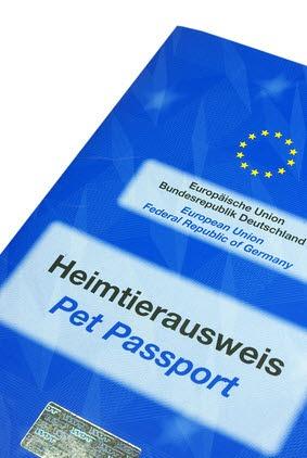 Der EU-Heimtierausweis ist ein Art internationaler Impfpass, der bei Reisen innerhalb der EU mitgeführt werden muss.