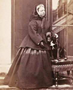 """Königin Viktoria mit Border Collie """"Sharp"""""""